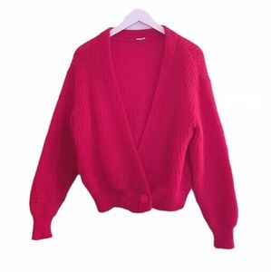 💟HOST PICK💟 Raspberry Mohair Vintage Cardigan